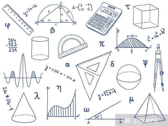Fotomural Matematicas Material Escolar Las Formas Geometricas Y