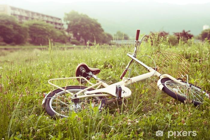 Fototapeta winylowa Rower na zielonej łące - Natura i dzicz