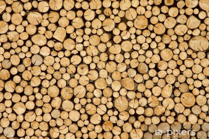 Sticker Pixerstick Bois devant les huttes - Thèmes