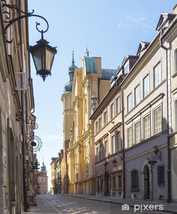 Vinilo Pixerstick Varsovia, la Ciudad Vieja, calle Piwna, St. Marcin iglesia - Temas