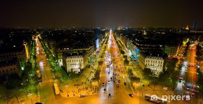 Naklejka Pixerstick Paryż, Francja. Widok z Łuku Triumfalnego - Miasta europejskie