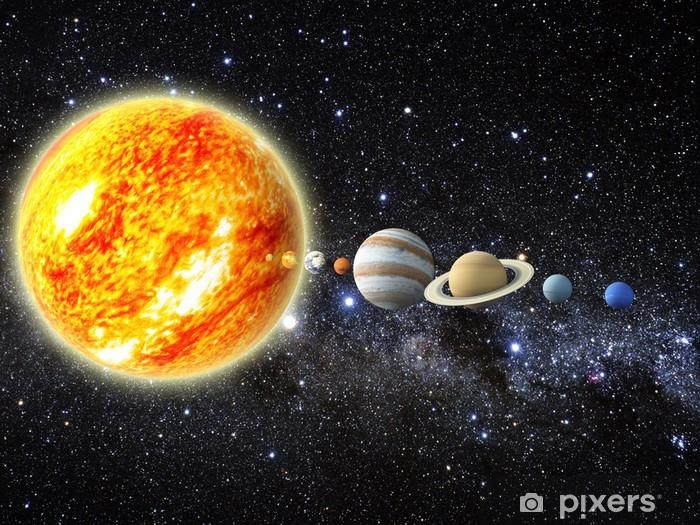 Naklejka Pixerstick Układ Słoneczny - Wszechświat