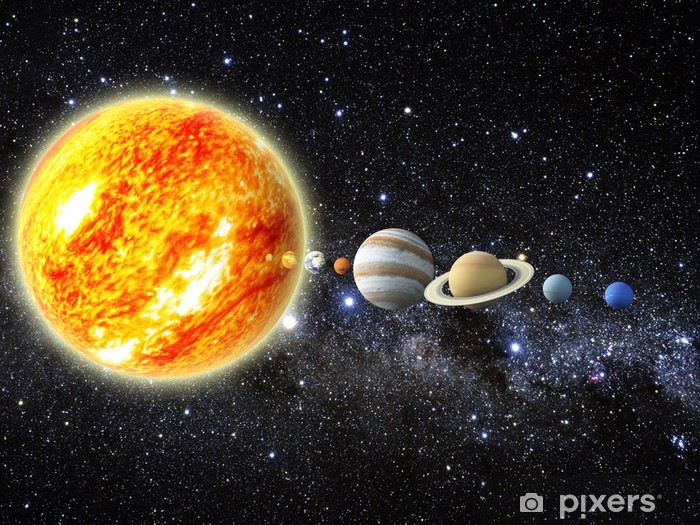 Papier peint vinyle Solar system - Univers