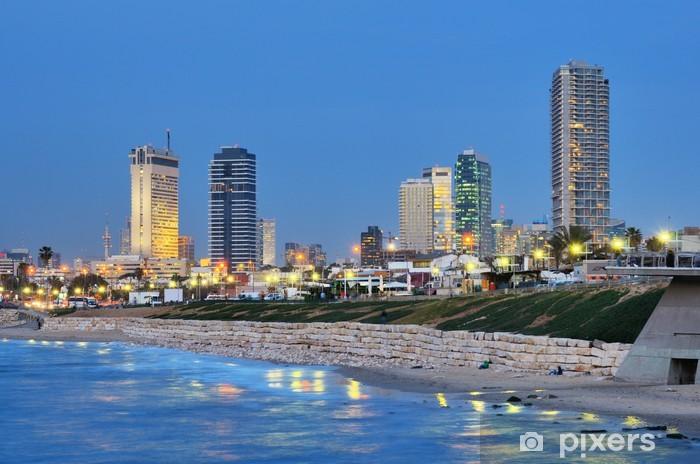 Naklejka Pixerstick Tel Aviv Skyline Mediterranean - Bliski Wschód