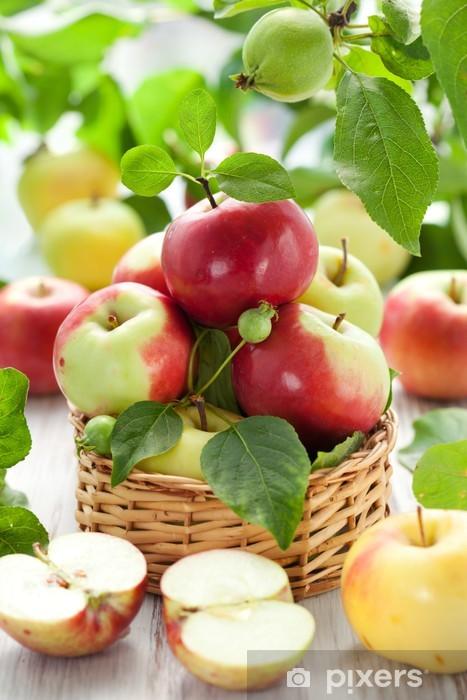 Naklejka Pixerstick Świeże jabłka - Owoce