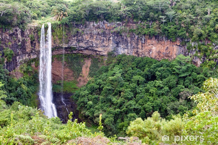 Papier peint vinyle Chamarel chutes d'eau à l'île Maurice .. - Afrique