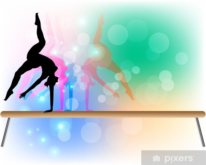 Papier peint vinyle Gymnastique artistique - Poutre - Danseurs