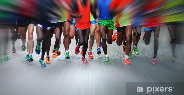 Papier peint vinyle Marathon runners - Thèmes
