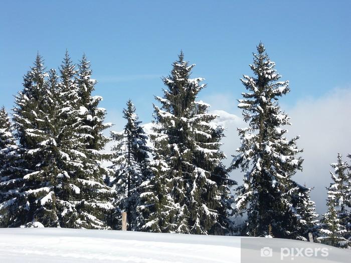 Naklejka Pixerstick Winterwald - Góry