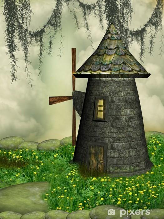 Vinilo Pixerstick Molino de viento - Maravillas de la naturaleza