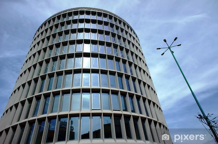 """Papier peint vinyle """"Rotonde"""" - un bâtiment moderniste à Poznan - Thèmes"""
