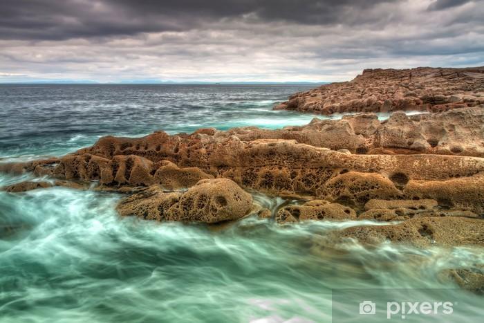 Sticker Pixerstick Rocky océan Atlantique paysage en Irlande - Eau
