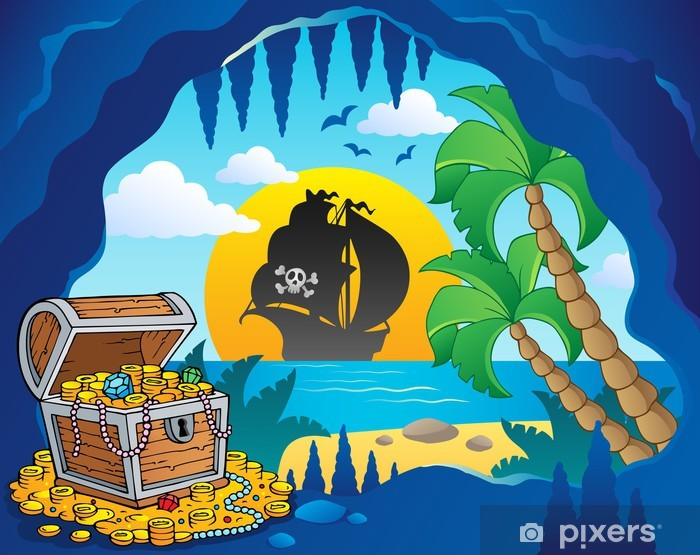 Pixerstick Aufkleber Pirate Cove Thema Bild 1 - Bereich