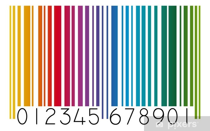 Vinilo Código De Barras De Color Pixerstick