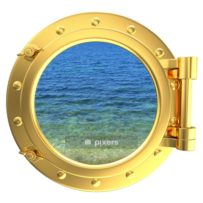 Porthole with a view of water Wall Decal -