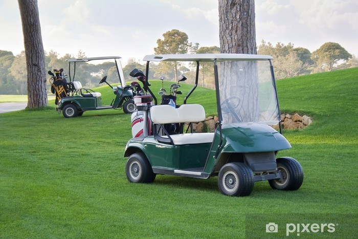 Fototapeta winylowa Samochodziki golfowe - Sporty indywidualne