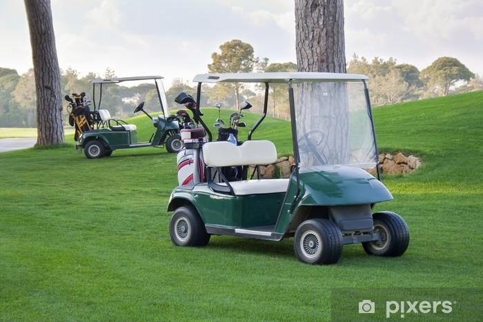 Sticker Pixerstick Voitures de golf. - Sports individuels
