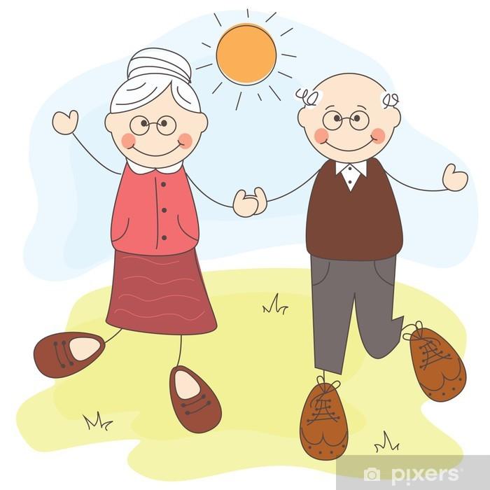 Fototapeta winylowa Happy dziadków - Wartości rodzinne