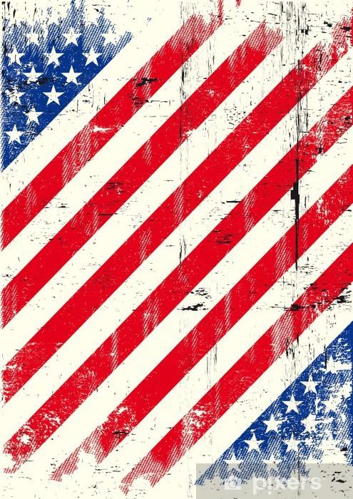 USA texture background Pixerstick Sticker - Themes