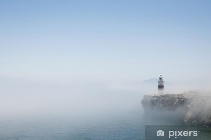 Vinyl-Fototapete Gibraltar Leuchtturm im Nebel - Leben