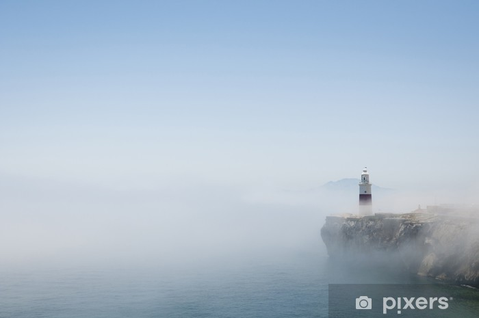 Sticker Pixerstick Phare de Gibraltar dans la brume - Vie