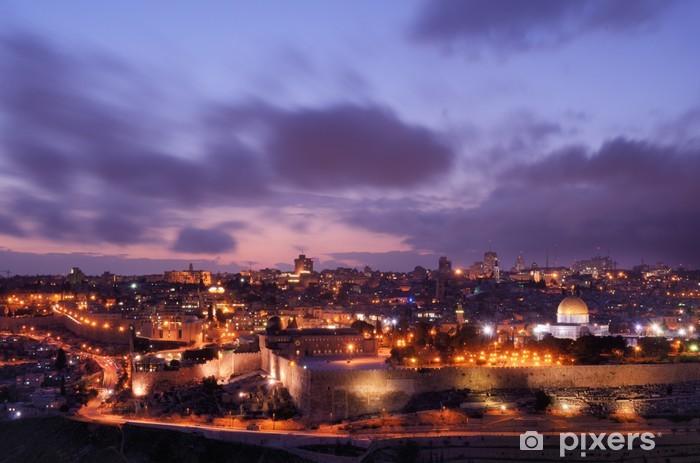 Vinilo Pixerstick Jerusalén Skyline - Oriente Medio