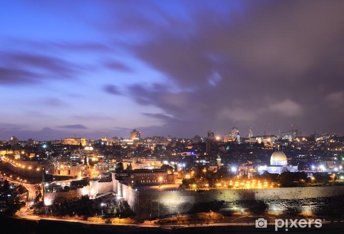 Pixerstick Klistermärken Jerusalem Skyline - Mellanöstern
