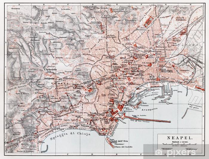 La Cartina Di Napoli.Carta Da Parati Vintage Mappa Di Napoli Napoli Alla Fine Del 19 Secolo Pixers Viviamo Per Il Cambiamento