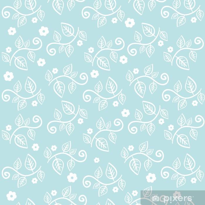 Papier peint vinyle Seamless texture avec des fleurs et des feuilles - Arrière plans