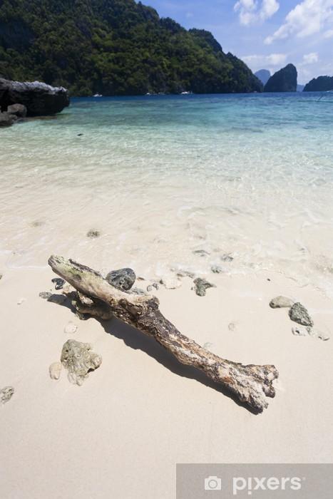 Papier peint vinyle Bois flotté sur la plage de sable blanc - Îles