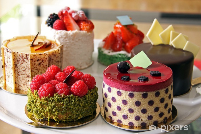 Papier peint vinyle Tarte sélection - Desserts et friandises