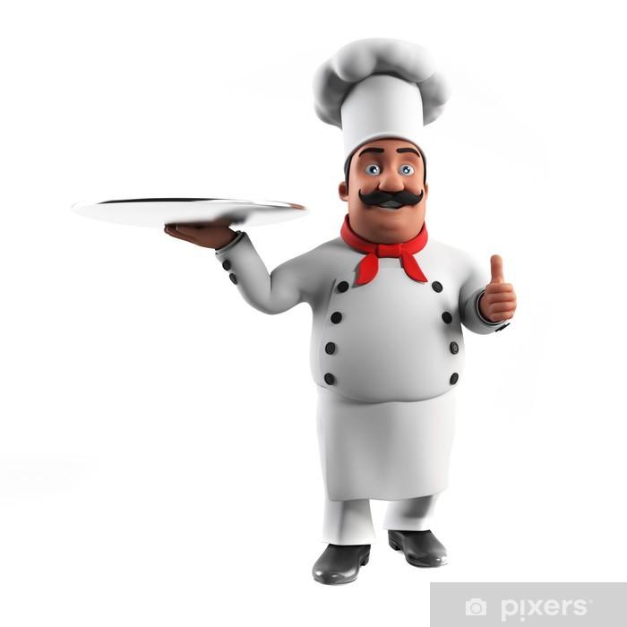 Carta da Parati in Vinile 3d ha reso l illustrazione di un cuoco cucina 5dd8b33c4a59