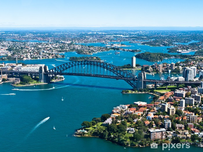 Sydney Harbour Bridge Pixerstick Sticker - Themes