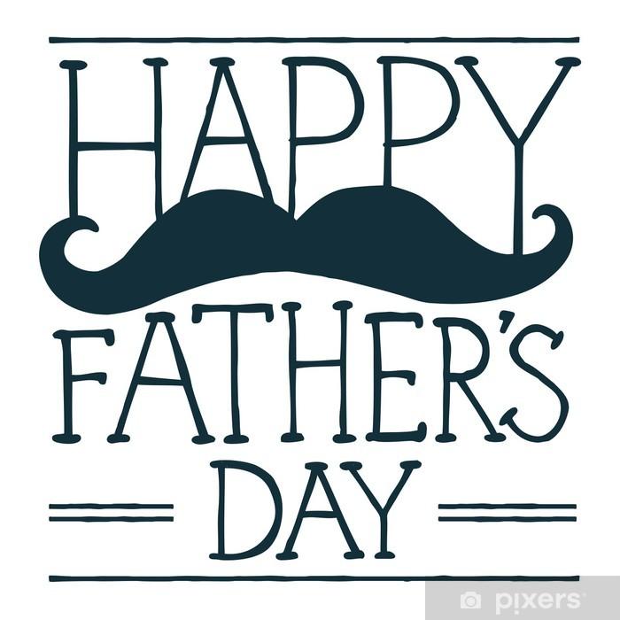 Plakat Ilustracja Dzień Ojca - Wąsy