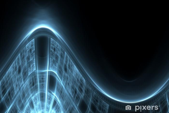 Naklejka Pixerstick Streszczenie techno w tle - Tła