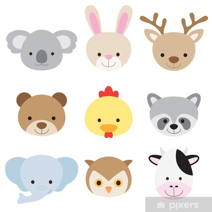 Sticker Pixerstick Set Animal Face - Destin