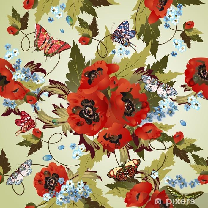 Plakát Krásná bezproblémové vzorek s máky - Témata