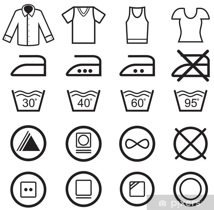 f7339179 Pixerstick-klistremerke Sett med vaske symboler • Pixers® - Vi lever ...