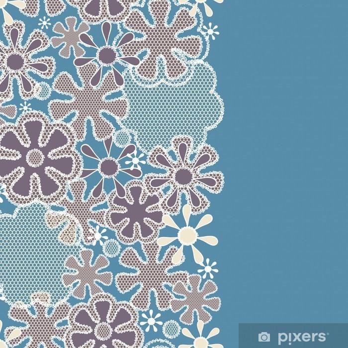 Poster Seamless abstract Spitze Blumenmuster - Hintergründe