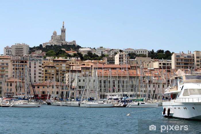 Pixerstick Sticker Vieux-port et quai de Rive Neuve à Marseille - Vakantie