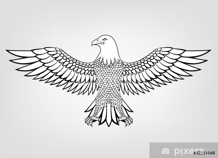 Papier peint vinyle Mascotte d'aigle - Oiseaux