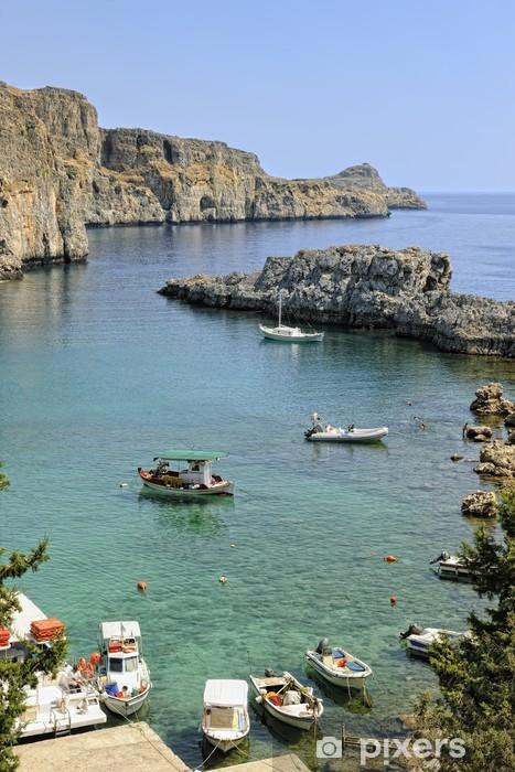 Fototapeta winylowa Świętego Pawła zatoka w Lindos, Rodos - Europa
