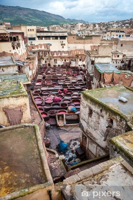 Vinylová fototapeta Koželužny v Fes Maroko - Vinylová fototapeta