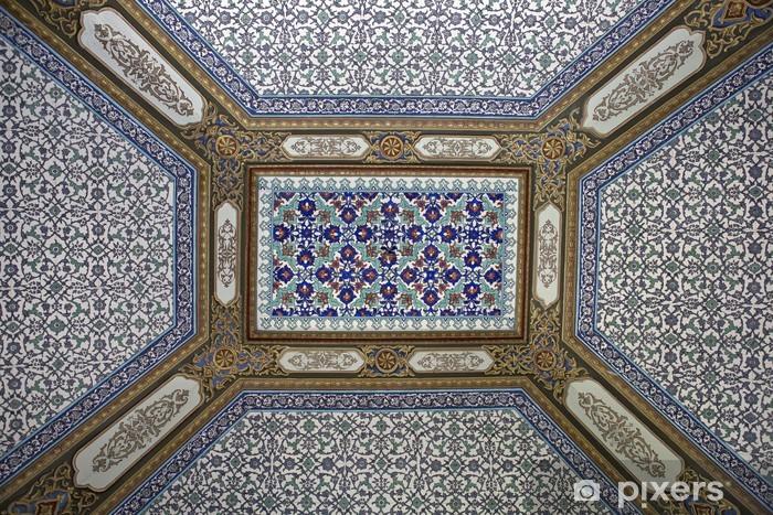 Carta da parati soffitto piastrelle in palazzo topkapi istanbul