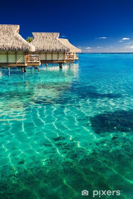 Fototapeta winylowa Wille wodne ponad tropikalnej rafie - Plaża i tropiki