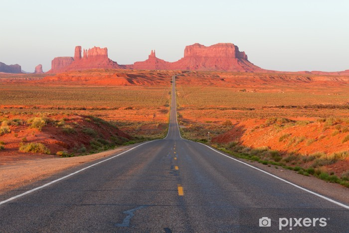 Pixerstick Sticker Weg naar Monument Valley - Thema's