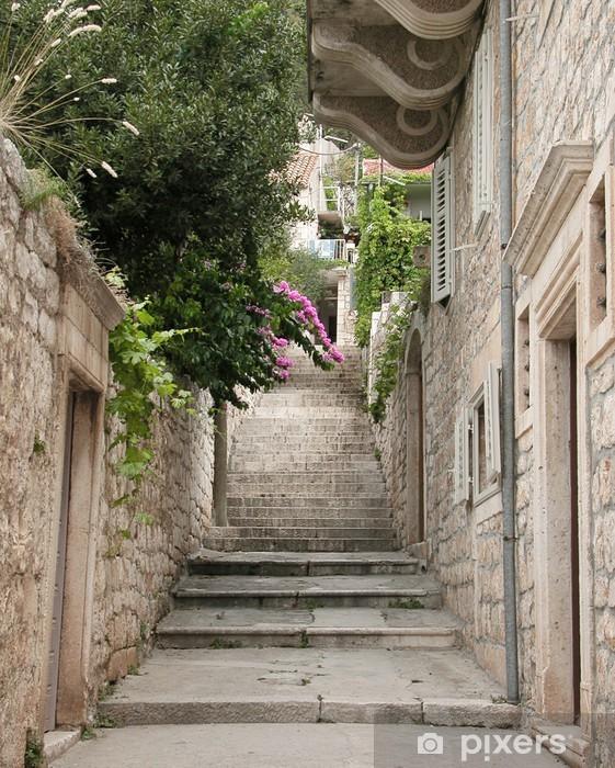 Fototapeta winylowa Widok na wąskiej alei w Split, Chorwacja - Tematy