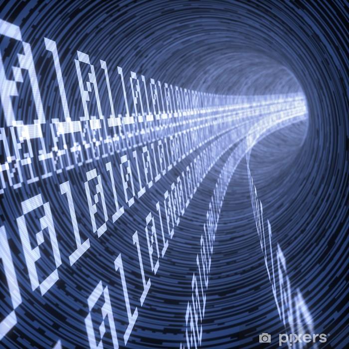 Fototapeta winylowa Cyfrowy tunel - Znaki i symbole