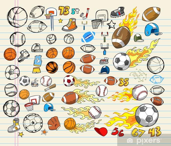 Mega Sports Vector Illustration Set Wall Mural Pixers