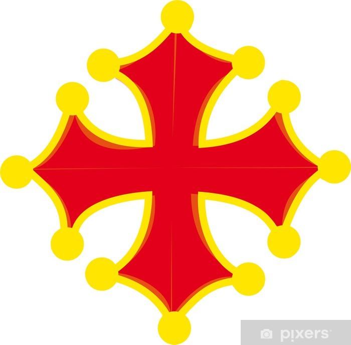Aufkleber Occitan Kreuz Pixerstick